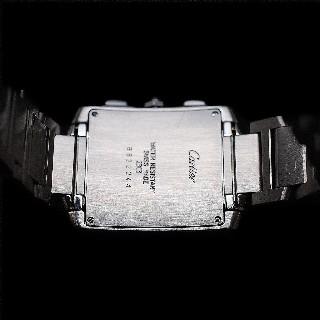 Montre Cartier Tank Française Chronoflex Acier Homme de 1998. Quartz