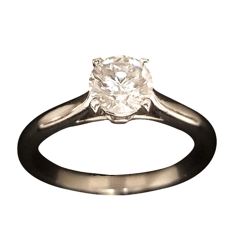 Solitaire Cartier Platine, Diamant 0,70 ct H-VS1 (GIA)   de 2009  Taille 53.