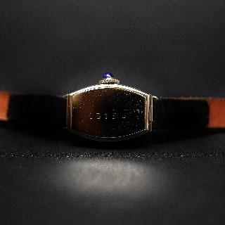 Montre dame Art Déco 1930 or gris + diamants taille rose + verneuils