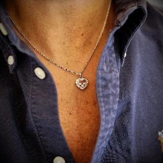 Chaine Pendentif Chopard Happy Curves Or gris 18k Diamants  de 2016.