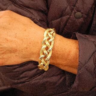 Bracelet Michele Morgan en Or jaune 18k massif vers 1970.