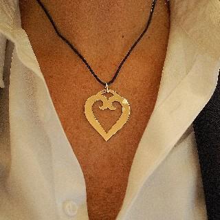 "Collier Pendentif Mellerio ""Le Coeur XL"" Or jaune 18 k."