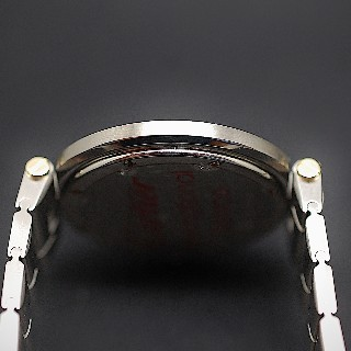 """Montre Cartier homme """"Santos Vendome """"en or et acier Quartz Vers 1990."""