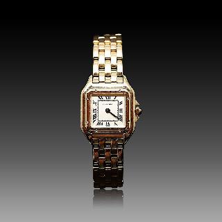 """Montre Cartier dame """"Panthère"""" Or 18k massif quartz Vers 1998."""