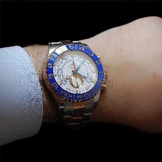 Montre Rolex Yach Master II Or Rose et Acier de 2012 . Ref : 116681.