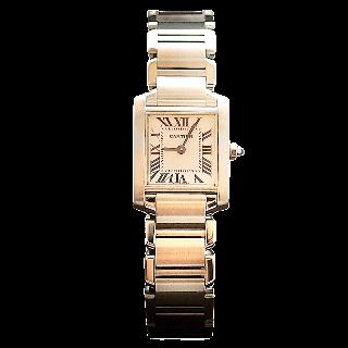 Montre Cartier Tank Française Dame Acier de 1999. Quartz