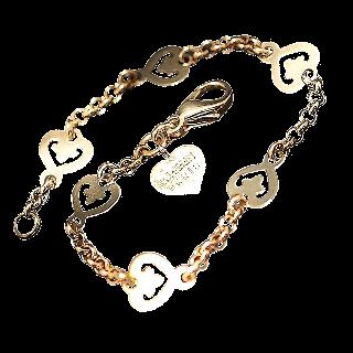 """Bracelet O.J Perrin en Or 18k """"Legende"""" 6 Coeurs vers 2010."""