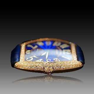 Montre de Dame Franck Muller Casablanca Or rose 18k Diamants Mécanique de 2002.