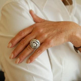 Bague Chopard XTRAVAGANZA de 2012 en Or Gris 18k Diamants Brillants