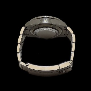 Montre Rolex Sea Dweller en Acier de 2014. Cadran noir. Ref : 116600 .Full Set.