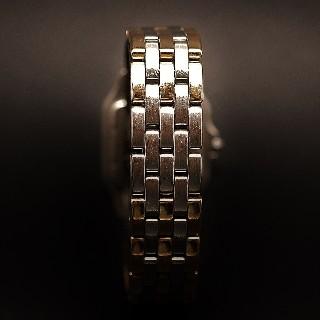 """Montre Cartier Homme """"Panthère"""" 3 Rangs Or 18k et acier en acier quartz Vers 1996."""