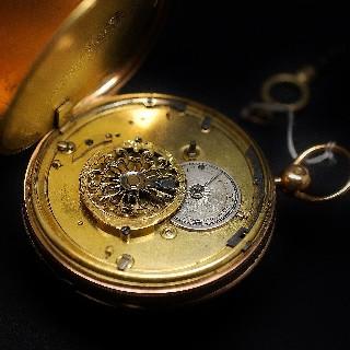 Montre à Gousset Anonyme Epoque 1822/1838 en or jaune 18k. Mouvement à Coq