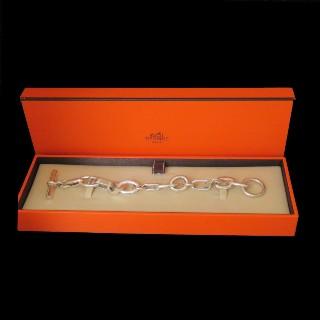 Bracelet Hermes Collection Alea Grand modèle en Argent.