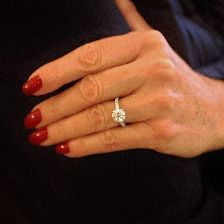 Solitaire en platine avec Diamant brillant 2.63 Cts I-VS2 + 0.31 Cts.