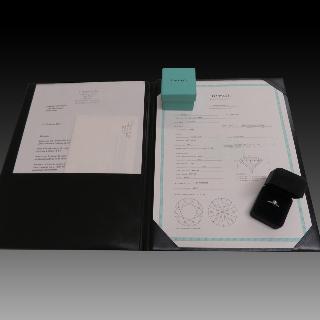 Solitaire Tiffany Platine Setting , Diamant 0,55 Ct F-VS1 de 2007. Taille 47-48.