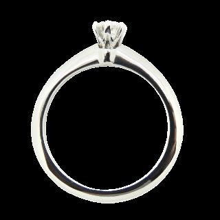 Solitaire Tiffany Platine Setting , Diamant 0,22 Ct E-VVS2 . Taille 48-49