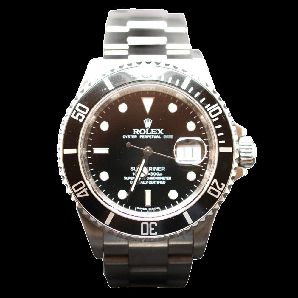 Montre Rolex Submariner Date Homme Acier de 2009.  Boite-Papiers.