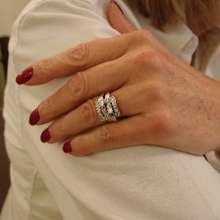 """Bague Boucheron """"Déchainée"""" de 2012 avec Diamants et Or gris 18k. Taille 52"""