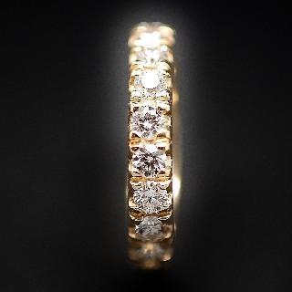 Alliance or gris 18k avec 2.0 Cts Diamants Brillants . Taille 53.