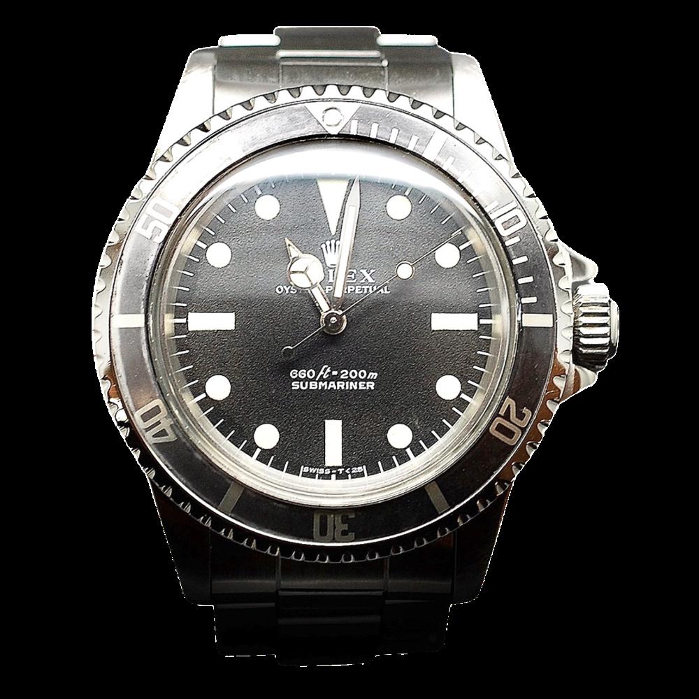 Montre Rolex Submariner Vintage de 1970 Acier . Ref : 5513.