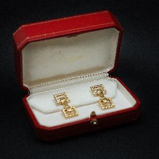 Boutons de Manchettes Cartier en or 18k Massif. Vers 1975