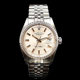 Montre Rolex Oyster Datejust Homme Acier de 1977. Cadran Gris. Ref : 1603 .