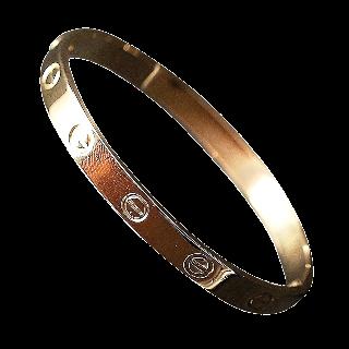 """""""Rare"""" Bracelet Cartier Love Vintage de 1970 signé par le Créateur Aldo Cipullo Or 18k."""