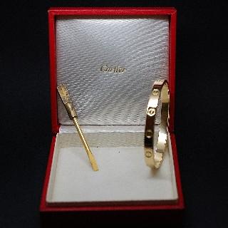 """""""Rare"""" Bracelet Cartier Love Vintage de 1970 signé Créateur Aldo Cipullo Or 18k."""