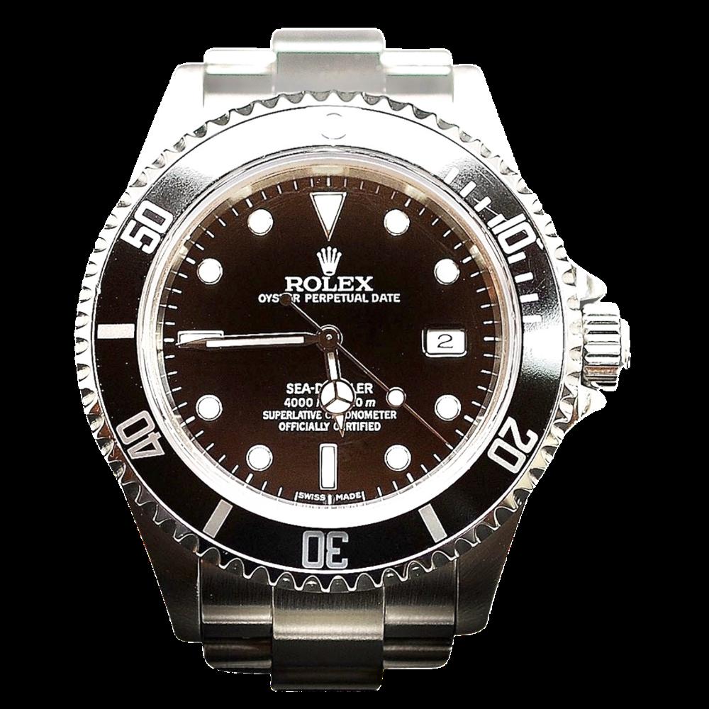 Montre Rolex Submariner Sea Dweller Acier de 2006.  Boite-Papiers.
