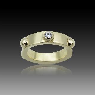 """Bague Louis Vuitton """"Clou"""" or jaune 18k . Diamant . Taille 49"""