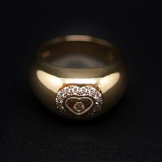 Bague Chopard Happy Diamonds Or Jaune 18k Diamants. Taille 57