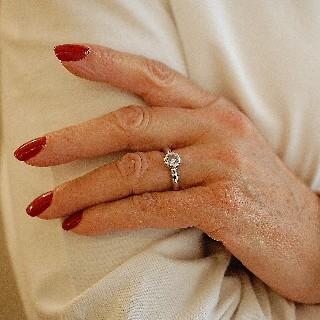 Bague Chopard Happy Diamonds Or Gris 18k Diamants. Taille 52