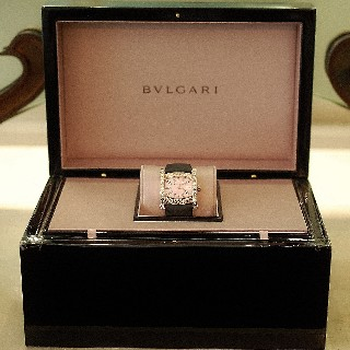 Montre Bulgari Assioma 36mm Dame Or rose 18k et Diamants.