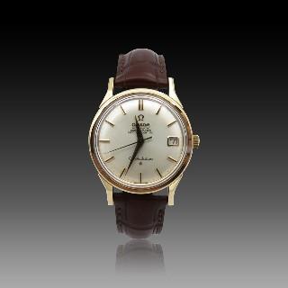 Montre Omega Constellation Or rose 18K de 1964. 34 mm. Automatique.