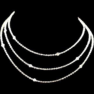 Sautoir en or jaune 18k avec 0.75 Cts de Diamants brillants.