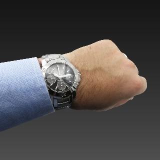 Montre Baume & Mercier Capeland ref : 65352 Acier Chrono Automatique 40 mm