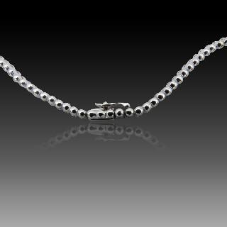Collier Négligé en Or gris 18k avec 2,50 Cts de Diamants .qualité G-VS
