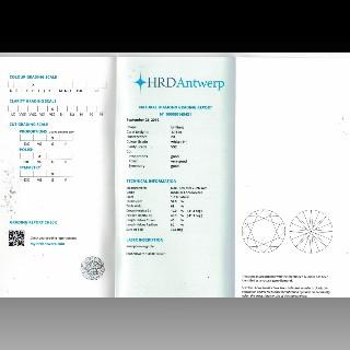 Solitaire en Or gris 18 Cts avec Diamant brillant 1,16 Cts H-VS2 + 0,12 Cts